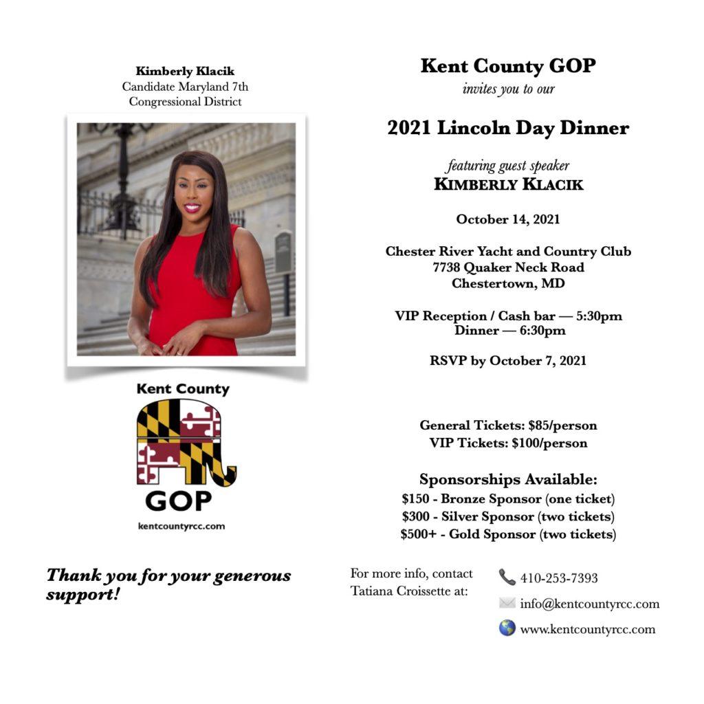 Lincoln Day Dinner 2021 flyer